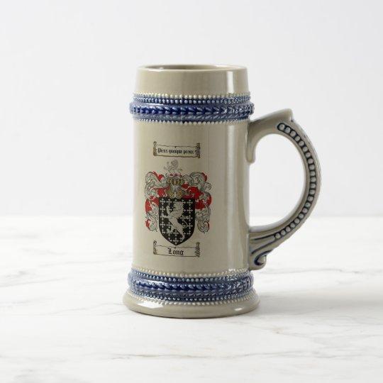 Langes Wappen Stein/lang Familienwappen Stein Bierkrug