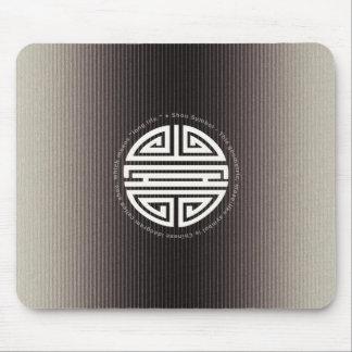 Langlebigkeits-Symbol-metallischer Hintergrund Mousepad