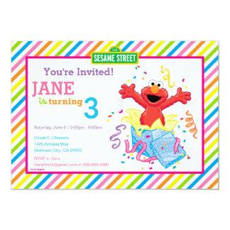 L'anniversaire de la fille du Sesame Street | Elmo Carton D'invitation 12,7 Cm X 17,78 Cm