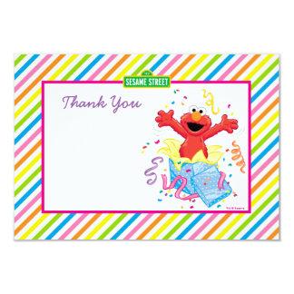 L'anniversaire de la fille du Sesame Street | Elmo Carton D'invitation 8,89 Cm X 12,70 Cm