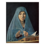 L'annonce, 1474-75 (huile sur le panneau) posters