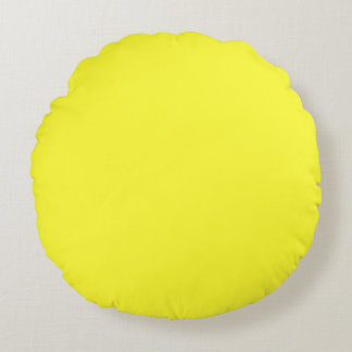 Lanzarote-Zitrone saures gelbes tropisches Rundes Kissen