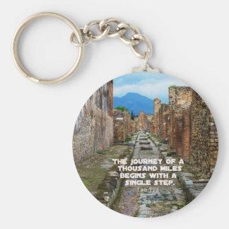Lao Tzu REISE-Reisezitat Standard Runder Schlüsselanhänger