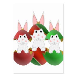 Lapin blanc en ornements de Noël Modèles De Cartes De Visite