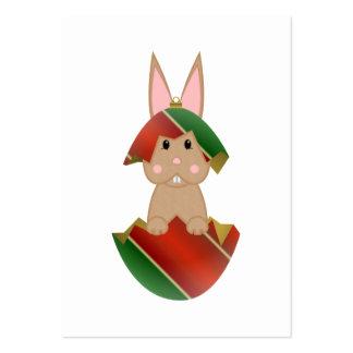 Lapin bronzage dans un ornement de Noël Modèles De Cartes De Visite