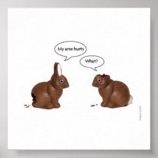 lapins drôles poster