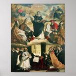 L'apothéose de St Thomas Aquinas, 1631 Affiche