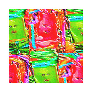 Lappenpop Flickenpuppe Galerie Gefaltete Leinwand