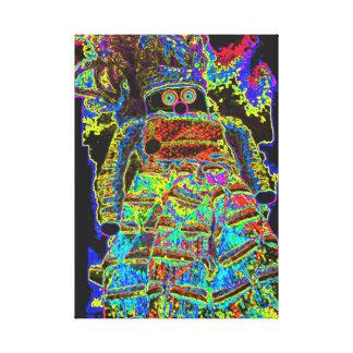 Lappenpop Flickenpuppe Gespannter Galeriedruck