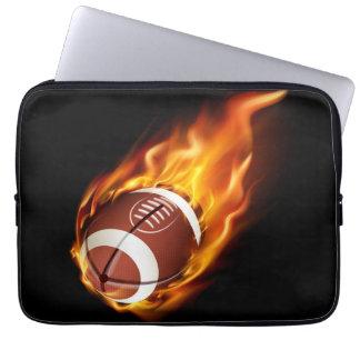 Laptop-Hülse-Lodernder Fußball Laptop Sleeve