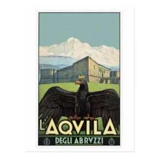 L'Aqvila Italien Degli Abrvzzi Vintage Reise Postkarte