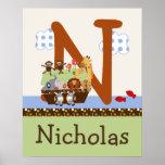L'arche de Noé/paires animales initiales/affiche n