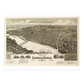Laredo Texas im Jahre 1890 Postkarte