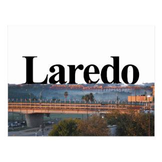 Laredo, TX Skyline mit Laredo im Himmel Postkarte