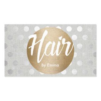 L'argent de cercle d'or de coiffeur pointille carte de visite standard