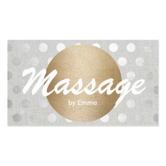 L'argent de cercle d'or de thérapeute de massage carte de visite standard
