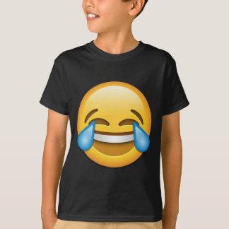 Larmes d'emoji de joie drôles t shirt