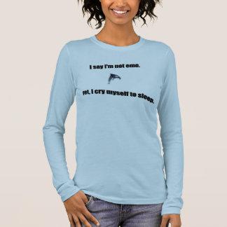 Larmes gallons d'Emo T-shirt À Manches Longues