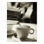 L'art d'à café frais/de s'ajouter cuits à la vapeu carte postale