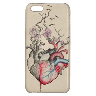 L'art d'amour a fusionné les coeurs anatomiques coques iPhone 5C