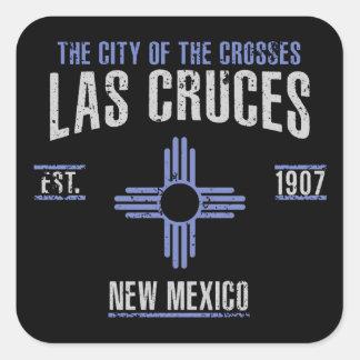 Las Cruces Quadratischer Aufkleber