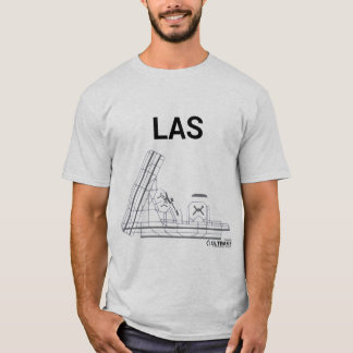 LAS Flughafen-Plan-T - Shirt