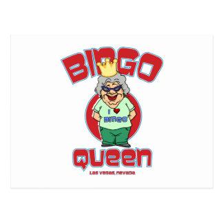 Las Vegas-Bingo-Königin Postkarte