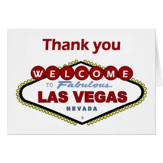 Las Vegas danken Ihnen zu kardieren. NEUE tiefrote Grußkarte
