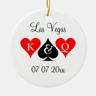 Las Vegas, das kundenspezifischen Monogramm Keramik Ornament
