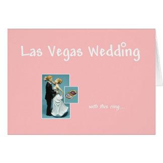 Las Vegas, das, mit diesem Ring, Braut u. Karte