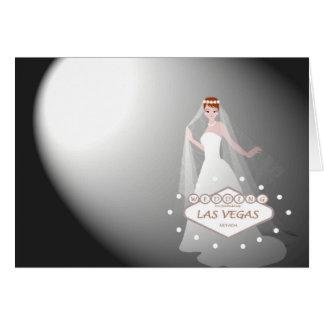 """Las Vegas, das """"Scheinwerfer auf der Braut """" Karte"""