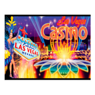 Las Vegas-Ferien Postkarte