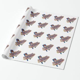 Las Vegas-Geburtstags-Packpapier Geschenkpapier