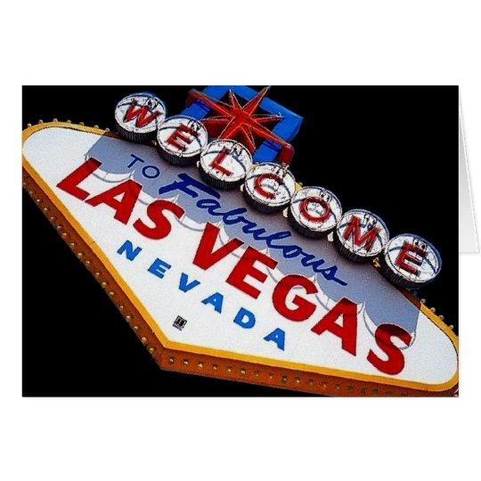 Las Vegas-Karte Grußkarte