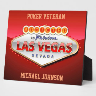 Las Vegas, lustiger Willkommensschild Nanovolt Fotoplatte
