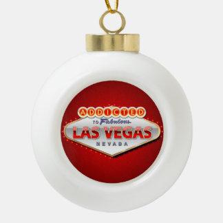 Las Vegas, lustiger Willkommensschild Nanovolt Keramik Kugel-Ornament