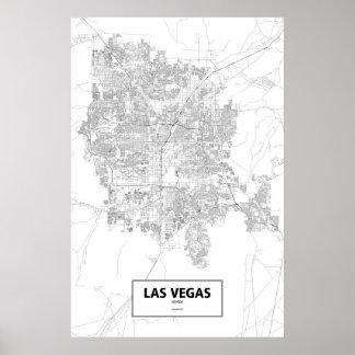Las Vegas, Nevada (Schwarzes auf Weiß) Poster
