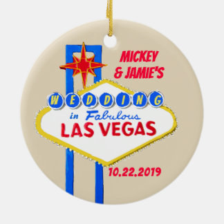Las Vegas personalisiert Save the Date Keramik Ornament