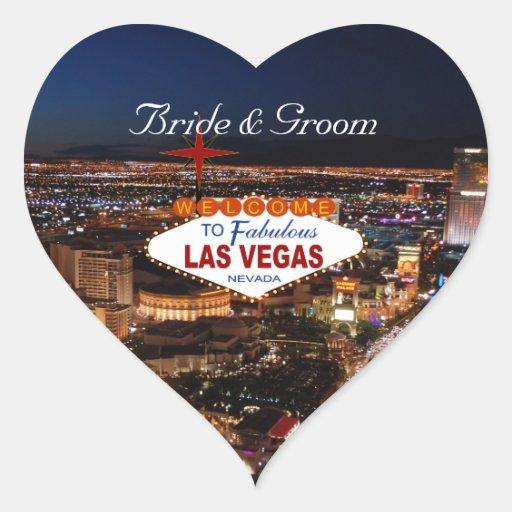 Las Vegas-Streifen-Hochzeits-Aufkleber