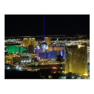 Las Vegas-Streifen-Luftaufnahme-Postkarten im März Postkarte