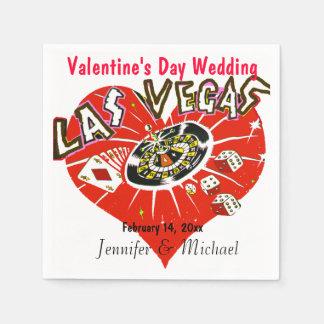 Las Vegas-Valentinsgruß-Hochzeit Servietten
