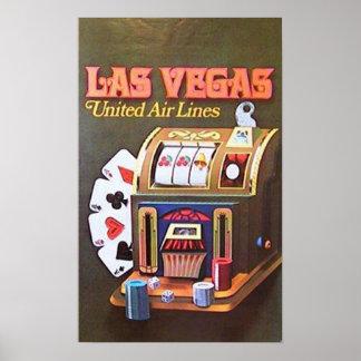 Las Vegas (vereinigte Luftverkehrslinien) Poster