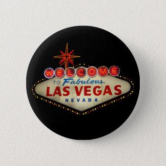 Las Vegas-Zeichen-Knopf Runder Button 5,1 Cm