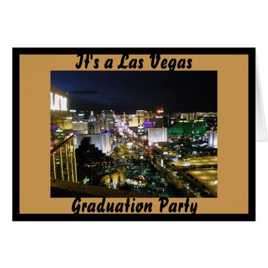Las- VegasAbschluss-Party Karte