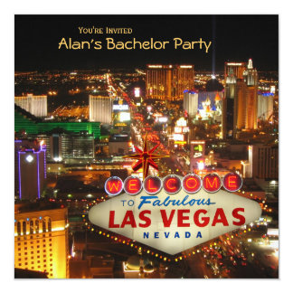 Las- Vegasart-Junggeselle-Party Einladung #2