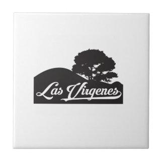 Las Virgenes - Landschaft Kleine Quadratische Fliese
