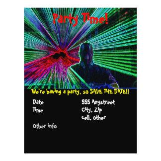 Laser auf DJ-Party-Flyer