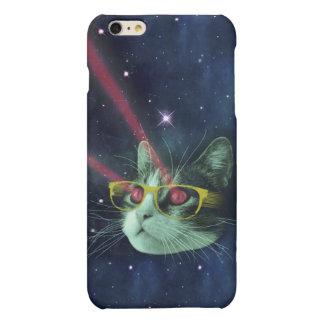 Laser-Katze mit Gläsern im Raum