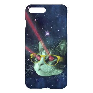 Laser-Katze mit Gläsern im Raum iPhone 7 Plus Hülle