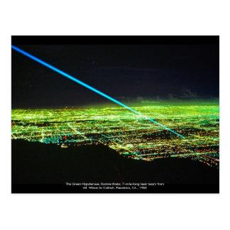 Laser-Skulptur durch Rockne Krebs Postkarte